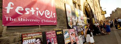 Festivals sign outside the Pleasance