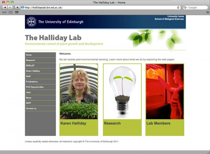 Halliday Lab home page