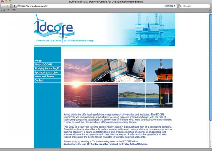 idcore web page