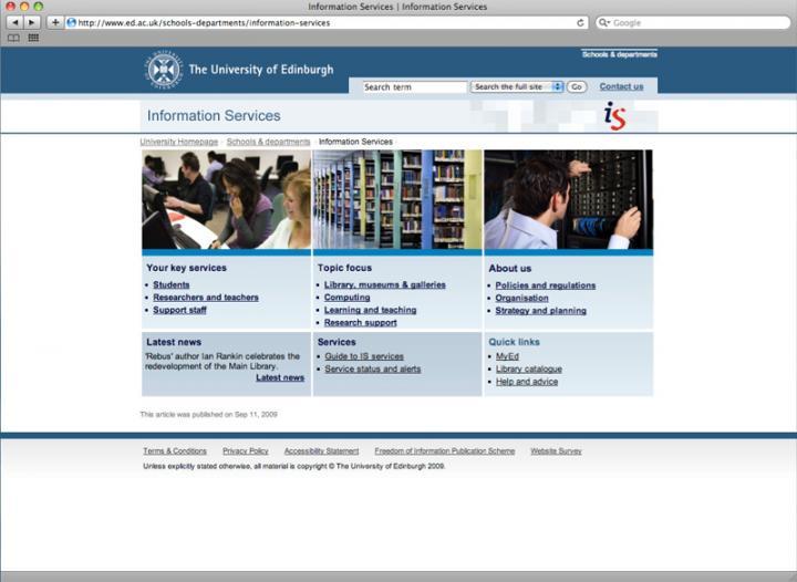 IS webpage