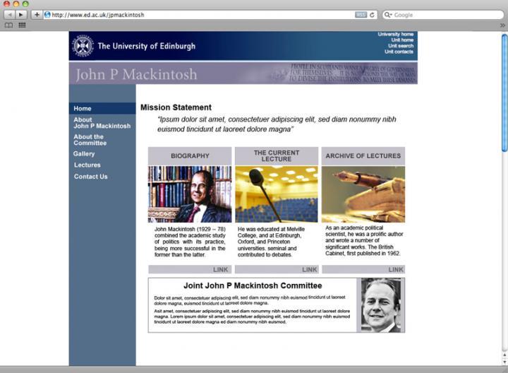jp mackintosh webpage