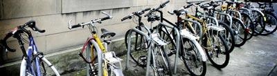 Bicycles at King's Buildings
