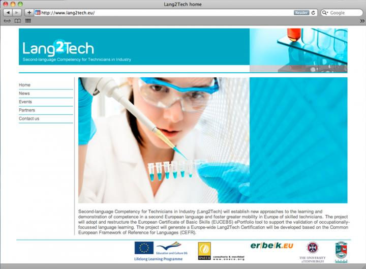 Lang2Tech website