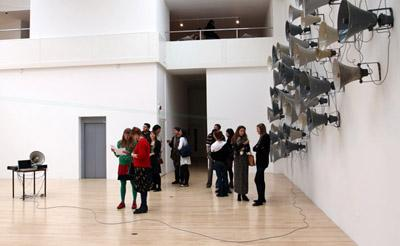 Image from the opening evening of the Level exhibition.