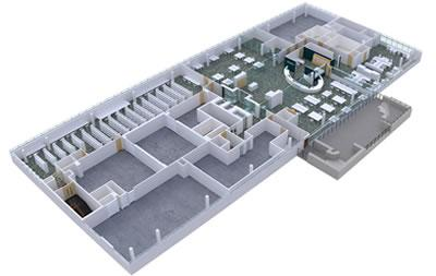 A 3D model of the 6th floor redevelopment