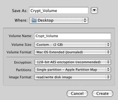 Creating an encrypted disk image on a Mac   The University