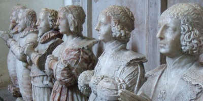Some marble statues