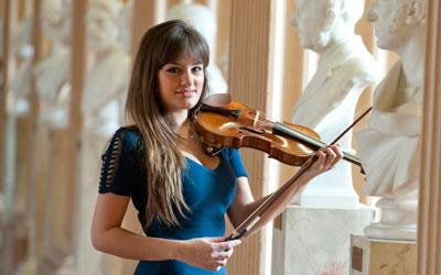 Violinist Nicola Benedetti in the Playfair Library