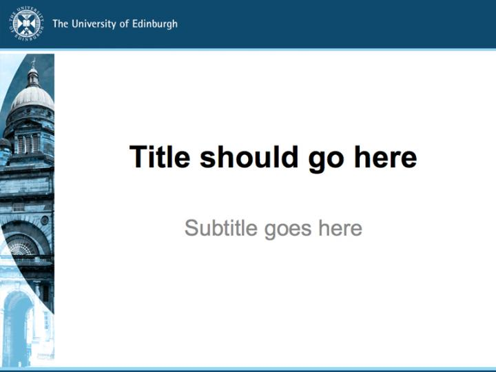 powerpoint templates | the university of edinburgh, Modern powerpoint