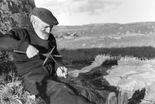 Rope making with horsehair in Lochboisdale, South Uist, 1936