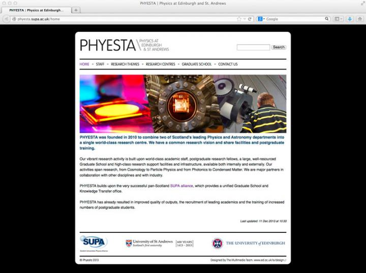 Phyesta web page