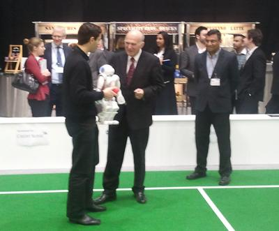 vince Cable meets RoboCup Team