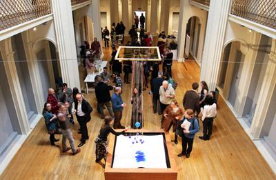 Image from the opening evening of the Unoccupied exhibition.