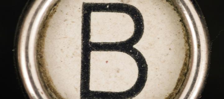 B key from old typewriter
