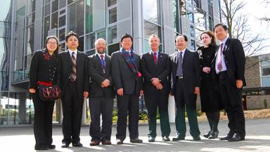 The Chinese delegation at The Roslin Institute building