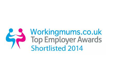 Workingmums.co.uk Top Employer Awards Shortlisted 2014 logo