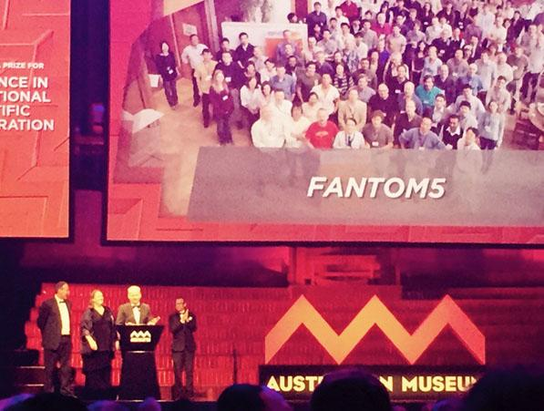 FANTOM5 being presented with the Eureka16 prize