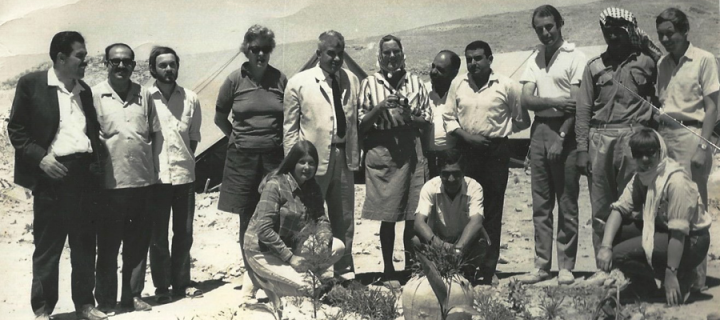Janet Starkey in Jordan for a fieldwork trip.