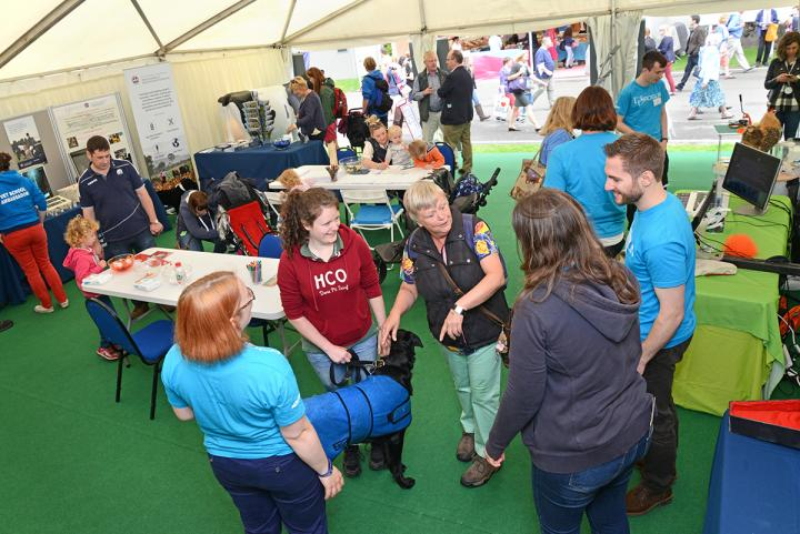Our stand in action on the first morning of the Highland Show