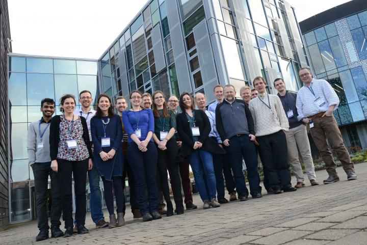 Aqualeap consortium at their first meeting in The Roslin Institute.