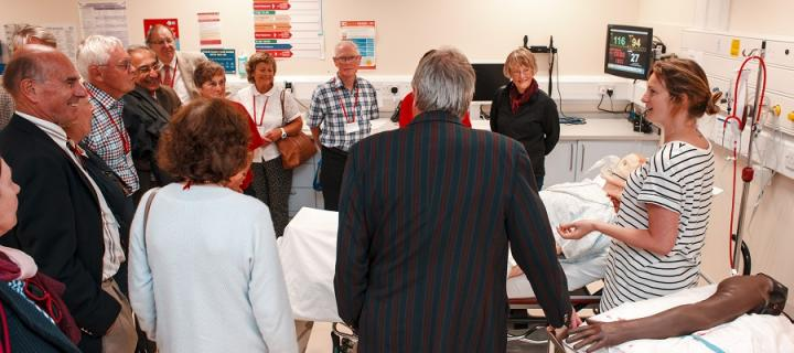 Class of 1966 visit the Clinical Skills Centre