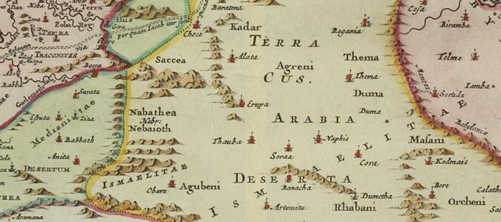 Old map of Arabia