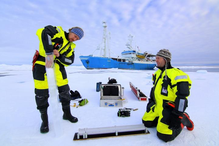 Fieldwork in the Arctic Ocean (photo A Doncila)