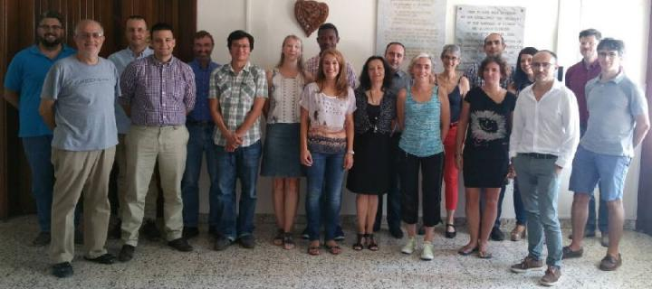 Participants at the AGRICYGEN launch event and consortium meeting in September in Cyprus.