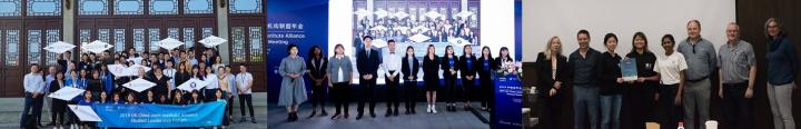 images of the winning ZJE students at the China-UK alliance meeting