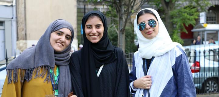 Saudi high school students in Edinburgh for summer school