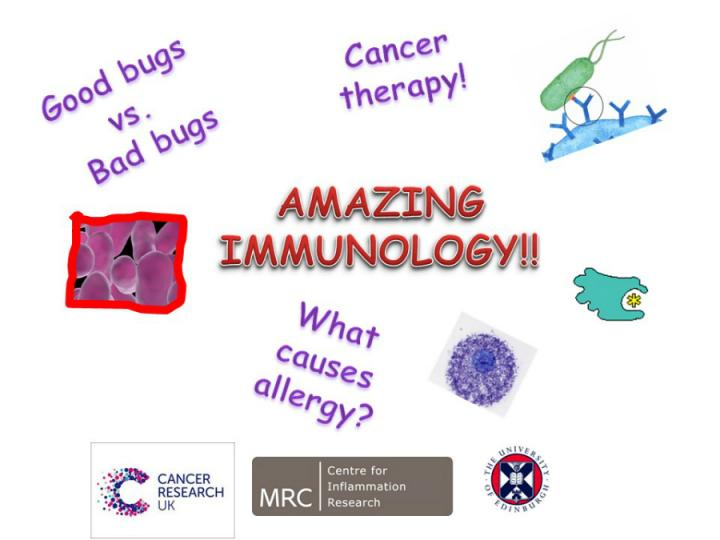 Flyer for Amazing Immunology event