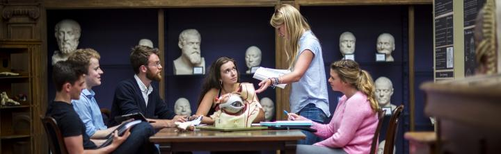Anatomy students in the Anatomy Museum