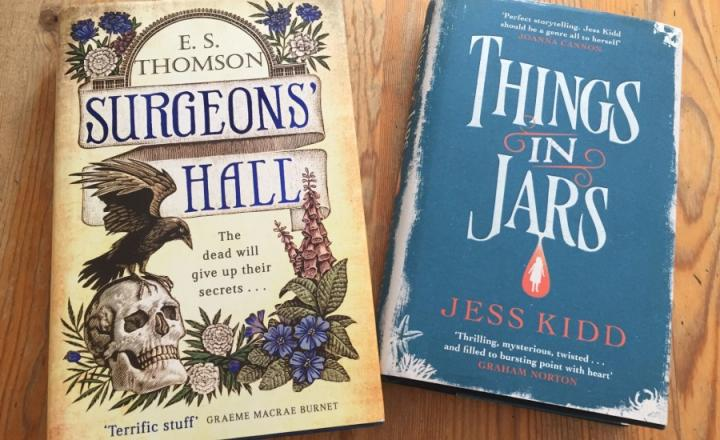 A photo of two books from the Under The Knife event at the Edinburgh International Book Festival