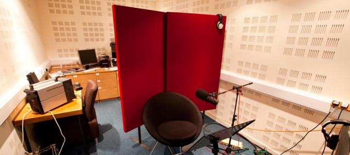 Interior shot of the Appleton Tower recording studio