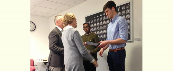 Arthur Fonville Award winners receiving their prize
