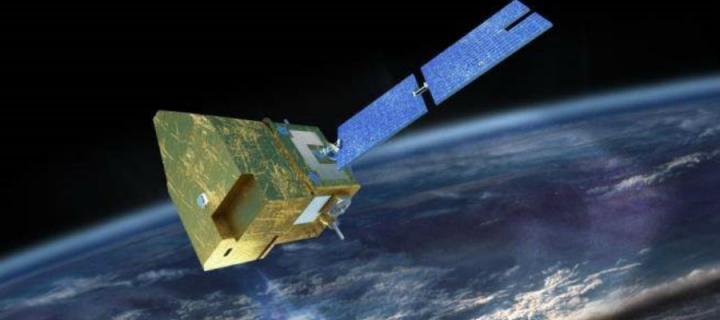 Artist's impression of MicroCarb satellite
