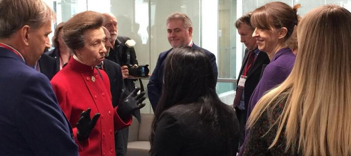 HRH The Princess Royal at the launch of the Bayes Centre
