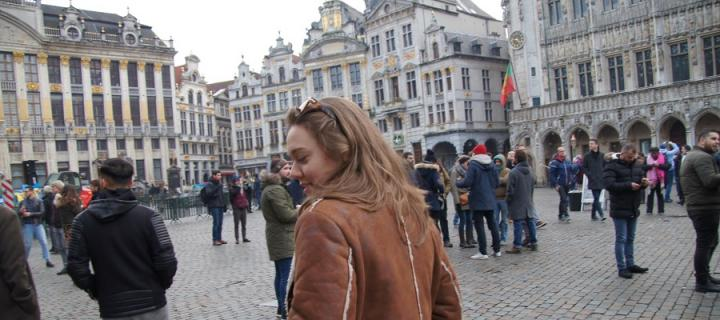 Photo of a student in Brussels