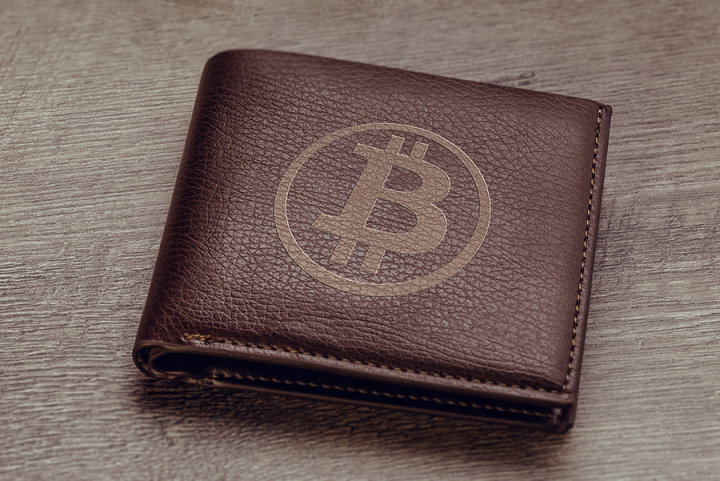 Wallet with Bitcoin logo