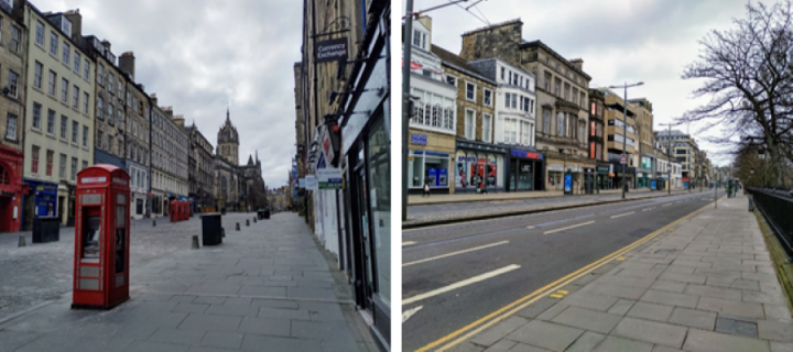 "Images - The usually bustling Royal Mile and Princes Street in Edinburgh, following the declaration of a ""lockdown"" to control the spread of COVID-19."