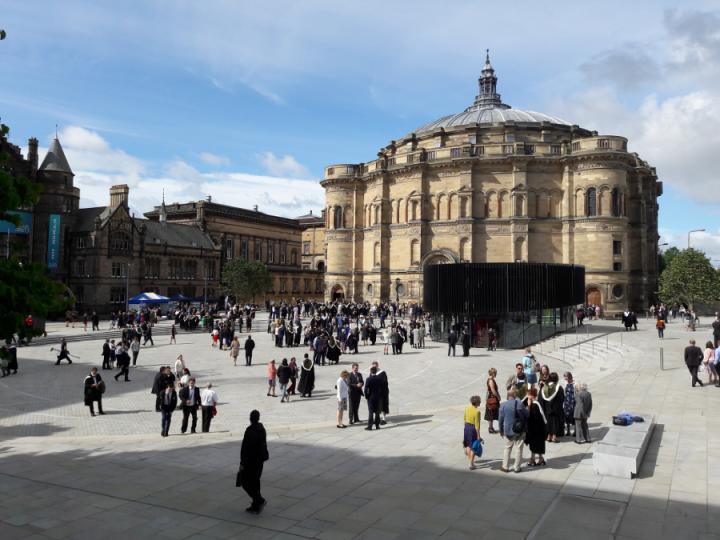 Bristo Square at Graduation