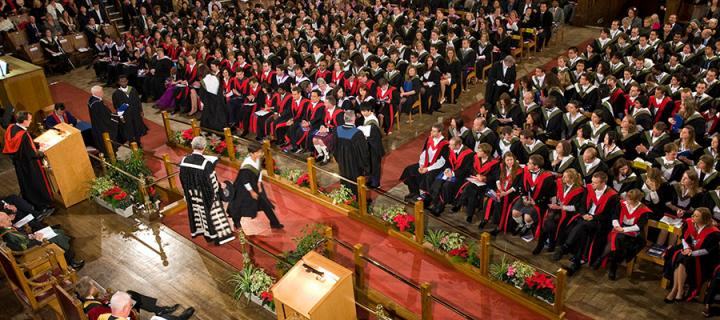 Photo of a graduation ceremony