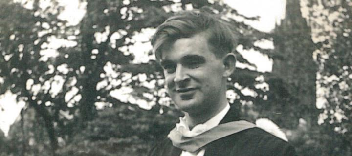 Chris Cameron on the day of his first Edinburgh graduation in 1964