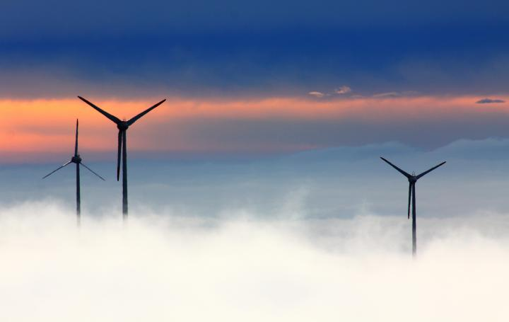 wind farm and cloud