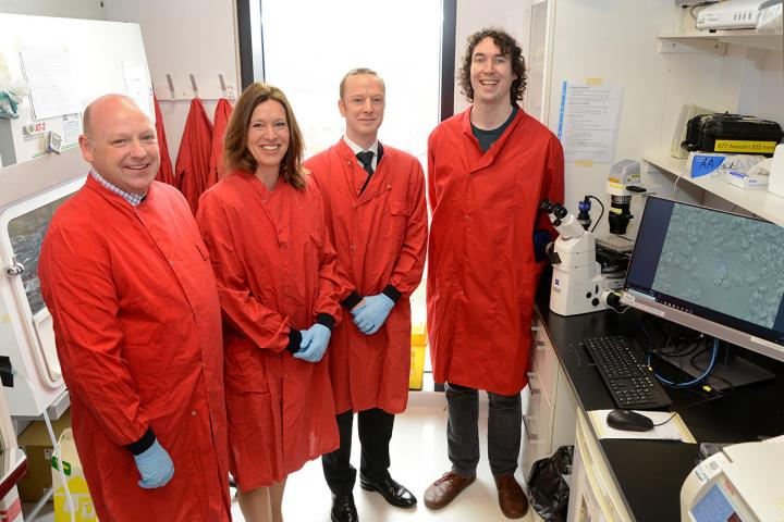 Dr Calderwood and Sepsis Research CEO Mr Colin Graham met with Roslin researchers.