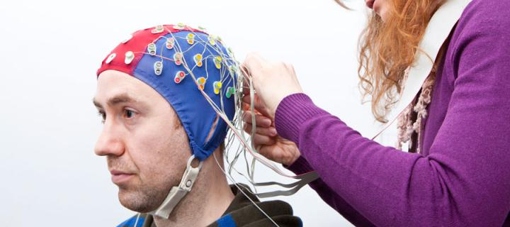 ElectroEncephaloGram (EEG) in use at the School of Philosophy, Psychology and Language Sciences