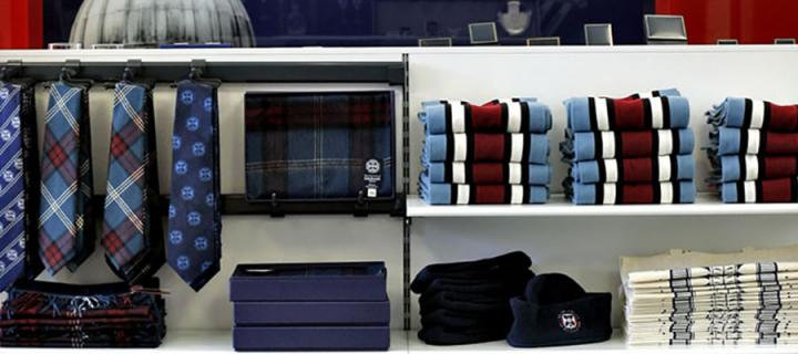 Photo of merchandise in the Visitor Centre.