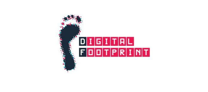 Digital Footprint logo - one stylised human footprint