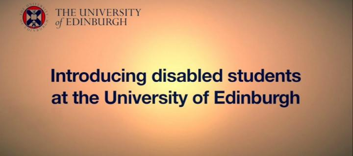 homescreen image of Disability Office's student videos
