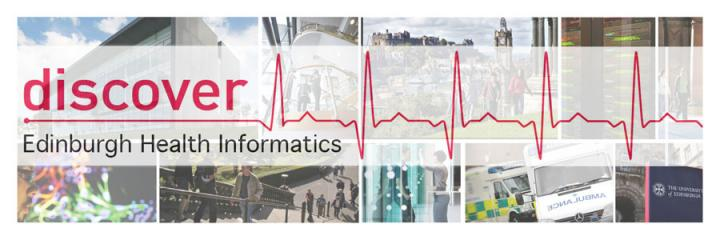 discover Edinburgh Health Informatics header